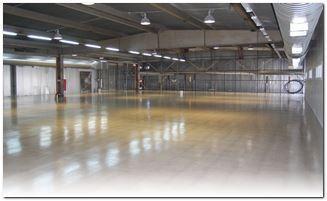 бетонный пол с топингом