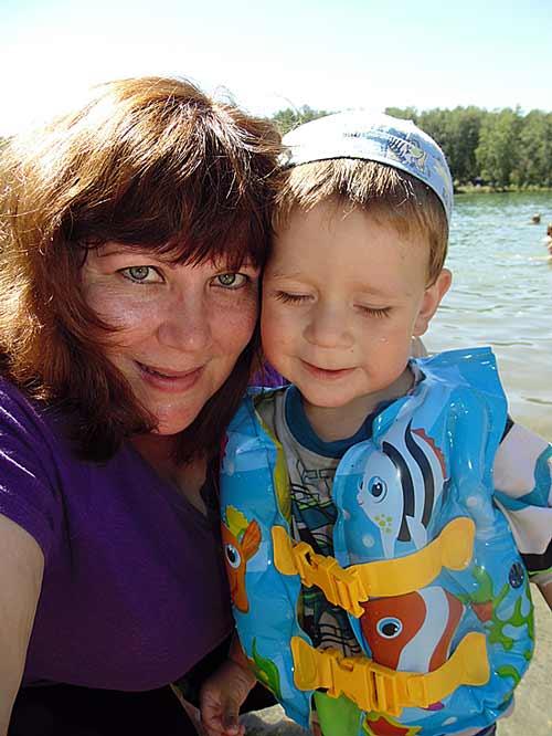 Я и Артем на озере Ая