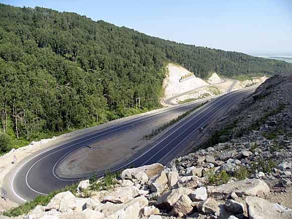 Дорога серпантин Белокуриха