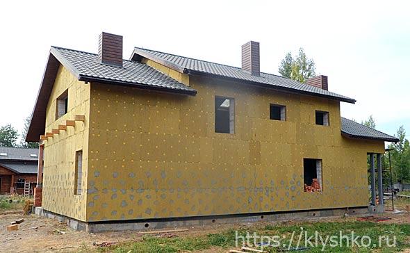 утепление стен снаружи дома минватой