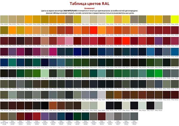 цвета-ral