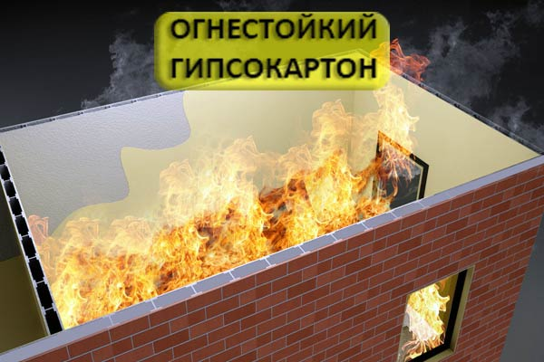 огнестойкость гипсокартона
